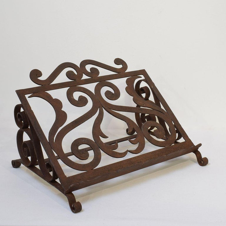 Spanish Late 19th Century Hand Forged Iron Lectern For Sale 1