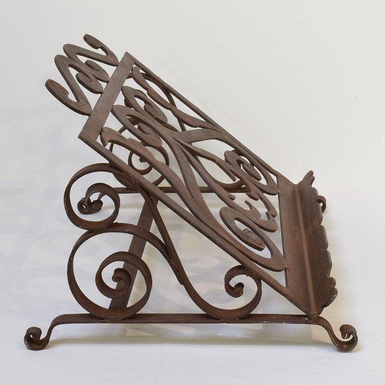 Spanish Late 19th Century Hand Forged Iron Lectern For Sale 2