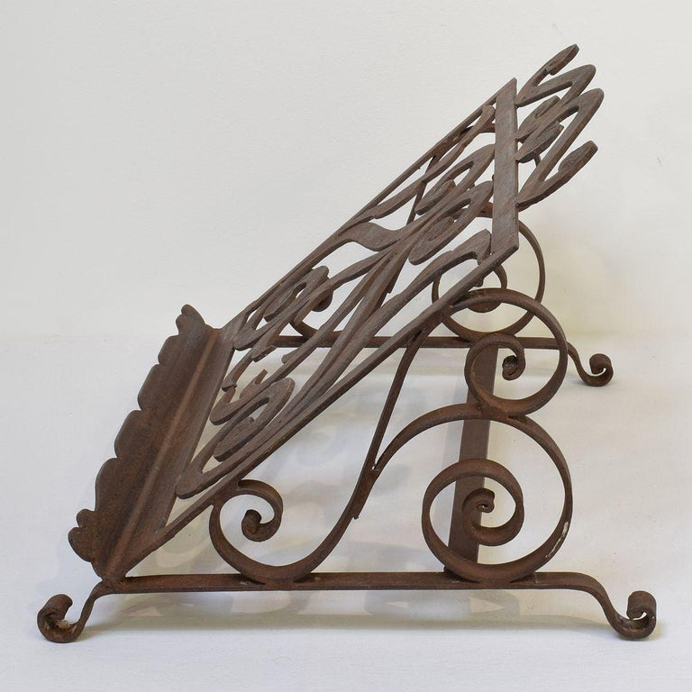 Spanish Late 19th Century Hand Forged Iron Lectern For Sale 4
