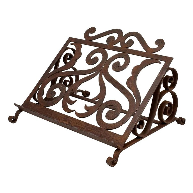 Spanish Late 19th Century Hand Forged Iron Lectern For Sale