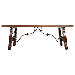 Spanish Late 19th Century Walnut Dining Table