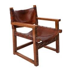 Spanish Leather Armchair