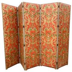 Spanish Leather Five Panel Screen