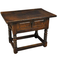 Spanish Louis XIII Style Walnut Side Table
