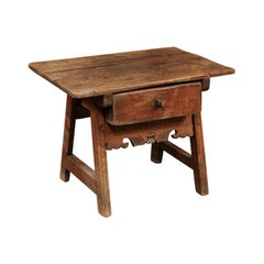Spanish Low Pine Drink Table, 18th Century