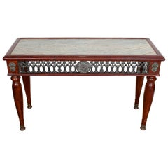 Spanish Marble Console Table Gilt Metal