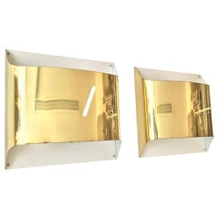 Spanish Metal Gold Wall Sconces, 1980s