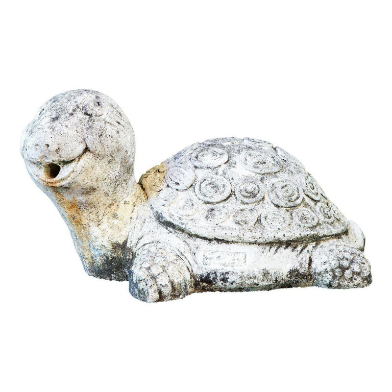 Spanish Midcentury Concrete Garden Sculpture of Turtle