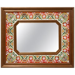 Spanish Mirror with Faience Tiles, 1970
