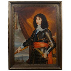Spanish Naval Officer Portrait Oil Painting on Canvas 17th Century Nautical