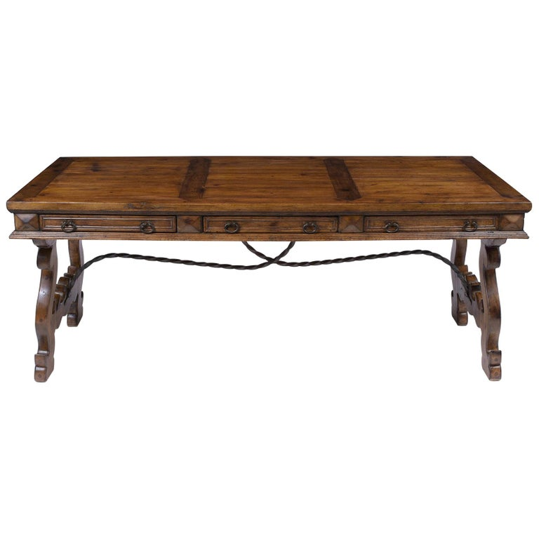 Spanish Oak Dining Table For Sale