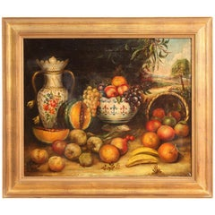 Spanish Oil Painting Still Life, 20th Century