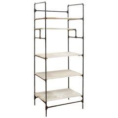 Spanish Open Shelf Rack Storage Display Piece, Artisan Created