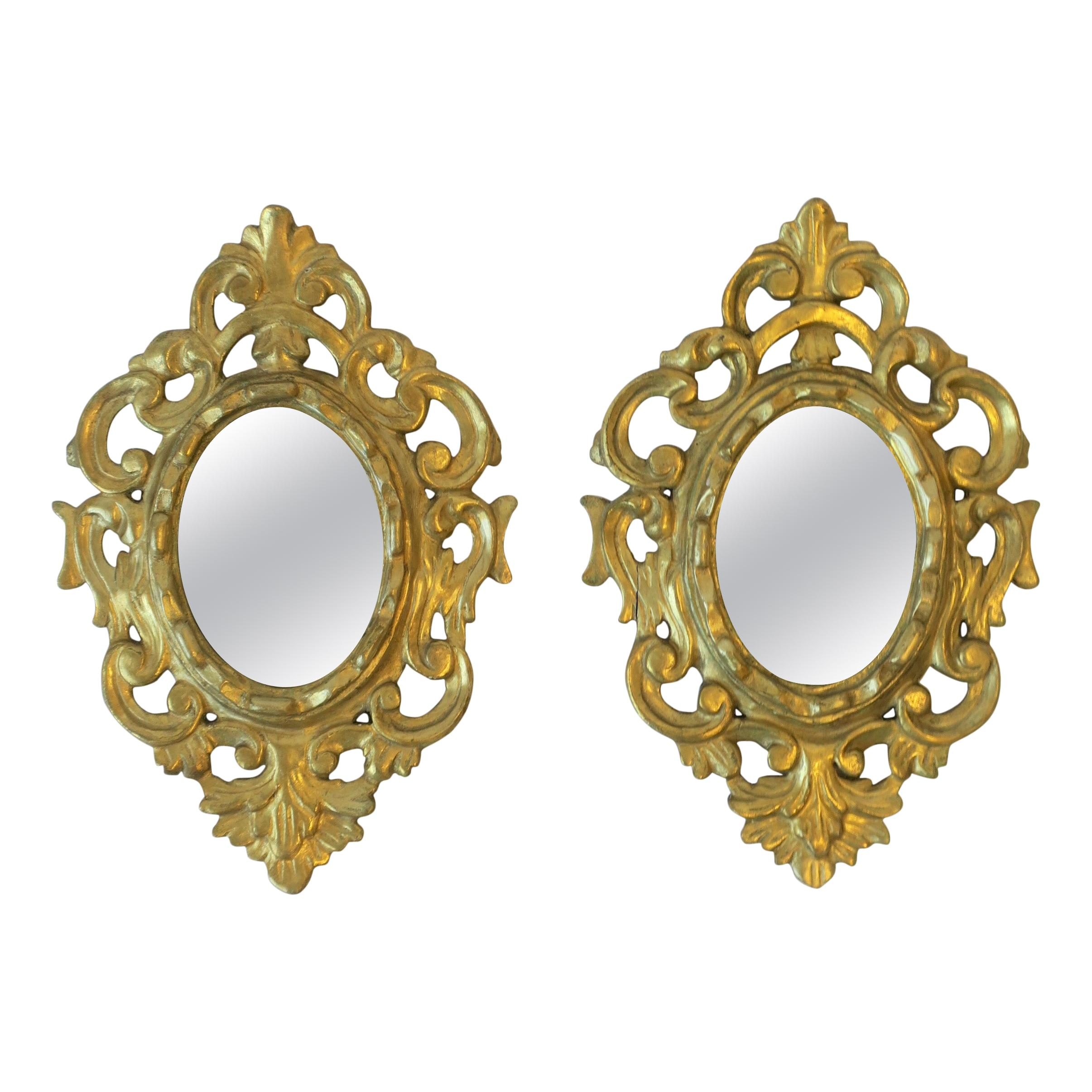 Spanish Oval Gold Giltwood Mirror