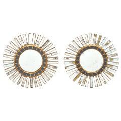 Spanish Pair of Sunburst Mirrors
