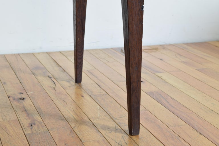 Spanish, Pamplona, Neoclassic Rustic Oak Side Table, Late 18th-Early 19th Cent. 4