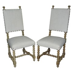 Spanish Renaissance Revival Side Chairs