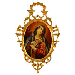 Spanish Reverse Painting Our Lady of Sorrows