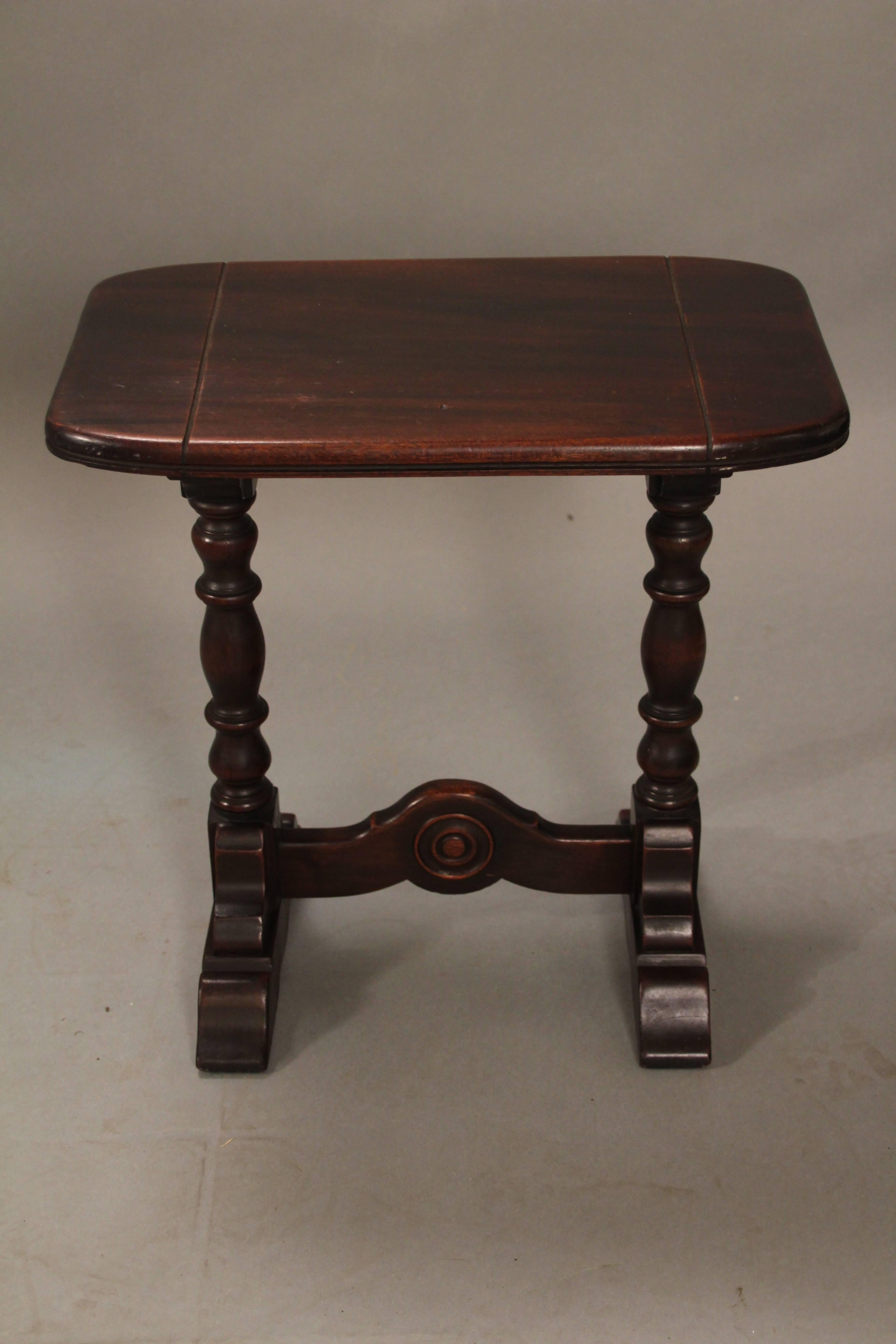 Carved Walnut Small Side Table, Circa 1920s.