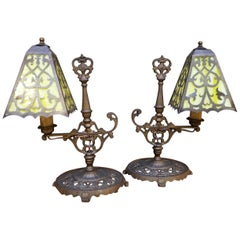 Spanish Revival Cast Iron Table Lamps
