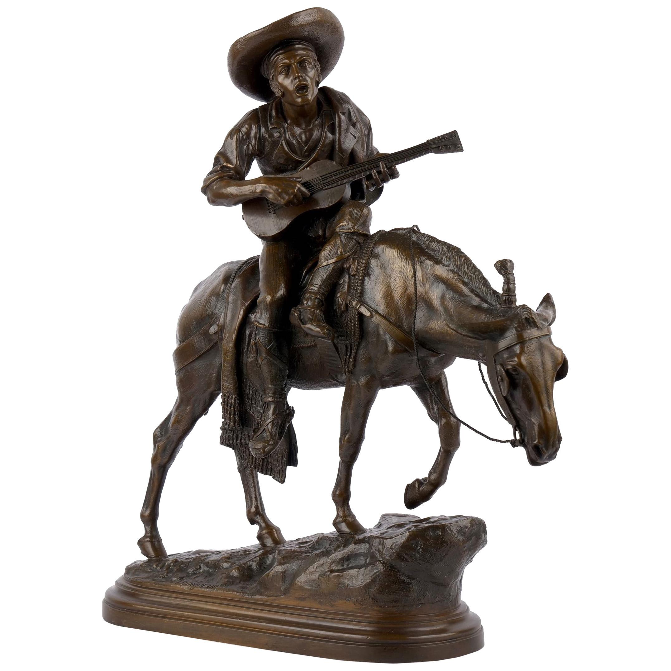 """Spanish Rider"" Antique French Bronze Sculpture by Isidore Bonheur & Peyrol"