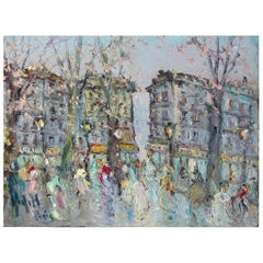 "Spanish School Painting ""Paris"", 20th Century"