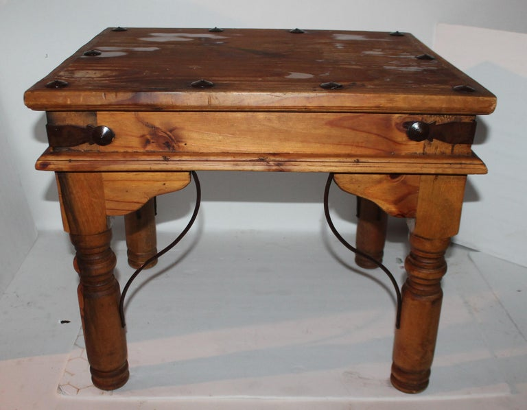 Adirondack Spanish Side Table or End Table For Sale