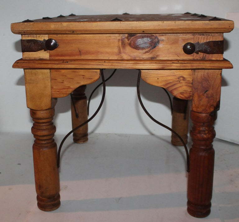 Mexican Spanish Side Table or End Table For Sale