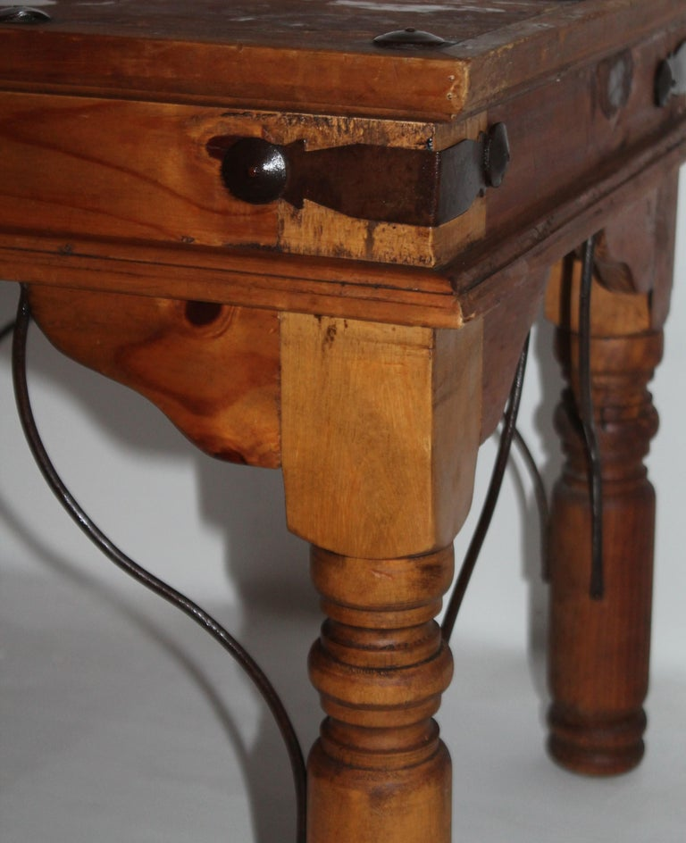 Hand-Crafted Spanish Side Table or End Table For Sale