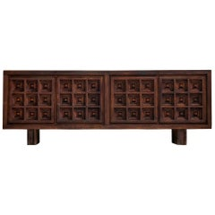 Spanish Sideboard in Stained Pine Manufactured by Biosca