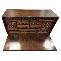 Spanish Solid Wood Cabinet, 17th Century