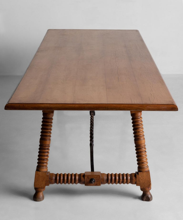 Early 20th Century Spanish Style Dining Table, France, circa 1900 For Sale
