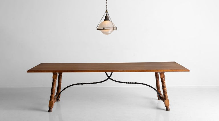 Spanish Style Dining Table, France, circa 1900 For Sale 4