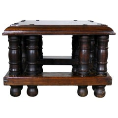 Spanish Style Square End Table with Nailheads by Artes De Mexico Internacionale