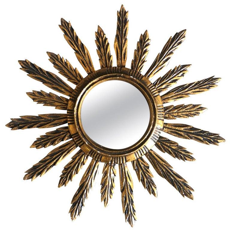 Spanish Sunburst Mirror For Sale