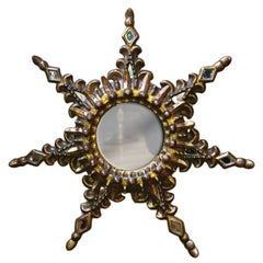 Spanish Sunburst Wood Mirror