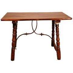 Spanish Table from the 16th Century in Walnut