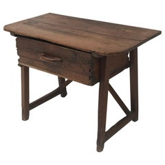Spanish Table with One Drawer