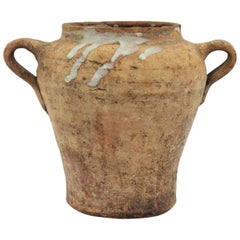 Spanish Terracotta Olive Jar or Vessel, 19th Century