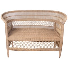 Spanish Two-Seat Hand Woven Rattan Sofa