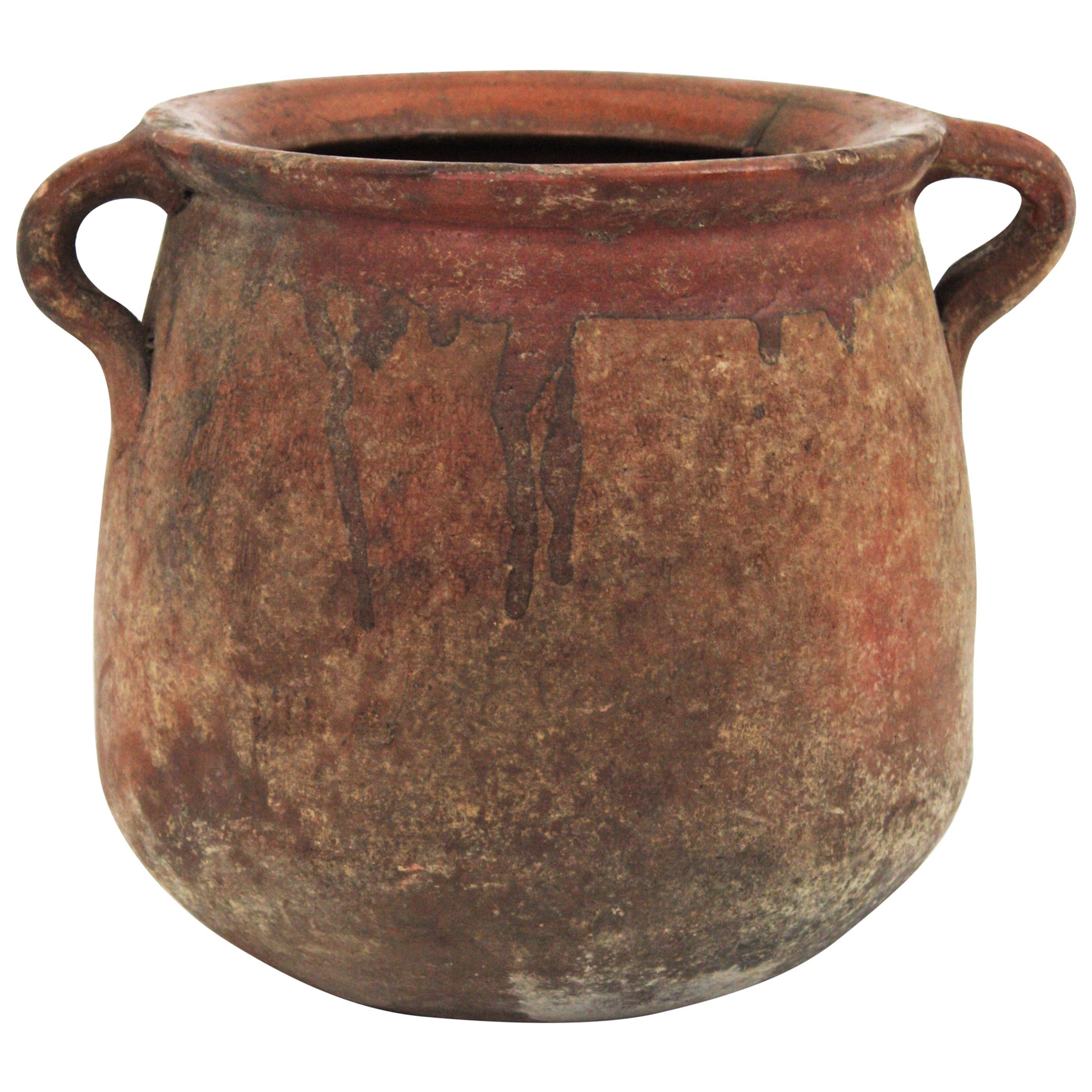 Spanish Unglazed Terracotta Pot or Vessel, 19th Century