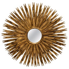 Spanish Vintage Sunburst Mirror