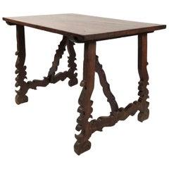 Spanish Walnut Baroque Style Table