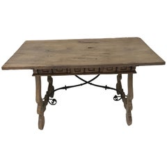 Spanish Walnut Table, Bleached