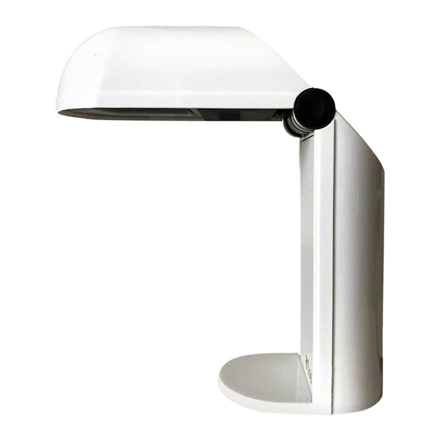 """Spanish White Table Lamp by Fase, Model """"Bambina"""", 1980s"""