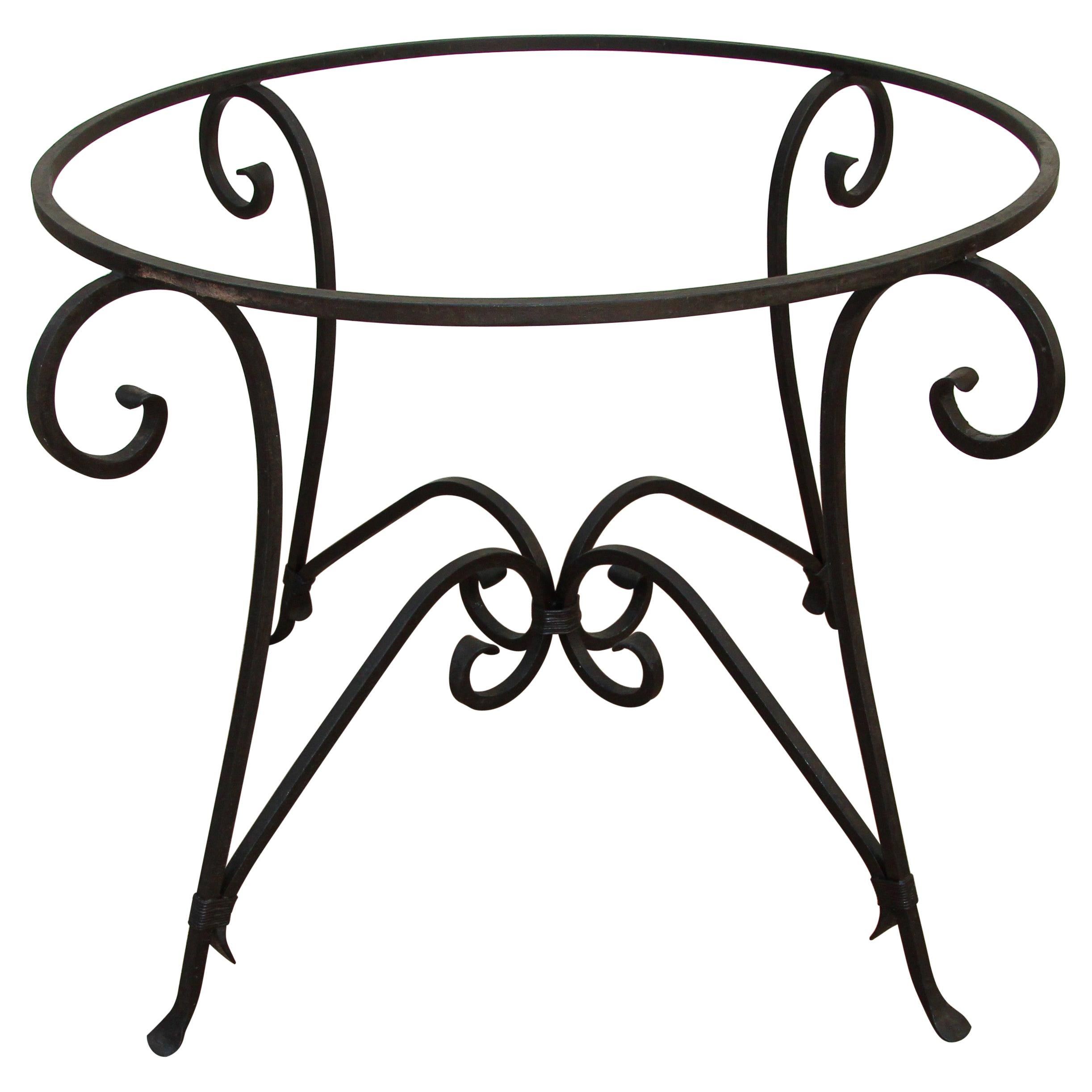 Spanish Wrought Iron Dining Table Base Indoor or Outdoor