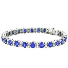 Spark Sapphire and Diamond-Set White Gold Bracelet