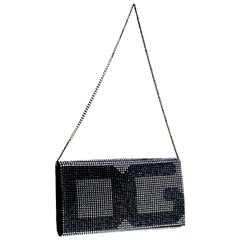 Sparkling Crystallized Dolce Gabbana Silk & Crystal Evening Bag Clutch