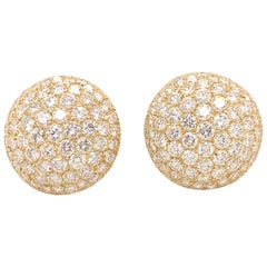Sparkling Diamond and Gold Earrings