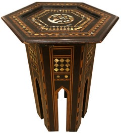 Sparkling Small Gem of a Moroccan Side or Drinks Table